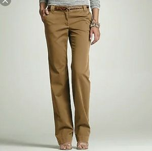 J. Crew Honey Brown Pants City Fit Size 0 Chinos